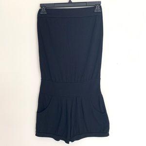 Black strapless romper/beach cover up